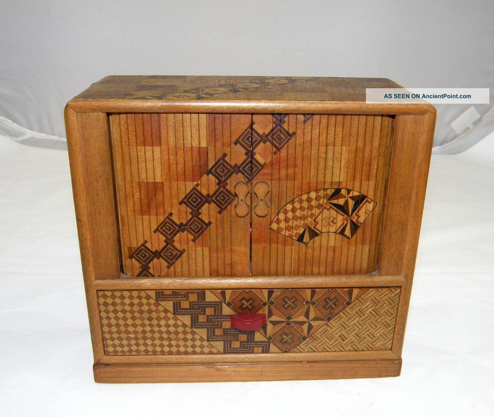 Miniature Japanese Tansu Cabinet Boxes photo
