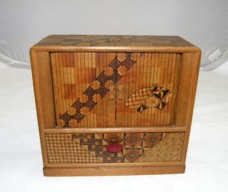 Miniature Japanese Tansu Cabinet photo