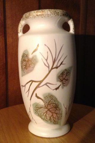 Nippon Yoko Boeki Co - Handpainted Vase - Leaves With Gold Accent photo