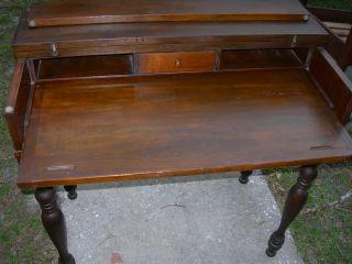 Antique Vintage Spinet Piano Desk Table Primative photo
