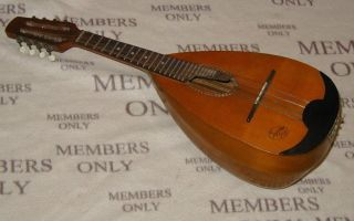 Very Interesting German Bowl Mandolin Superton Sing - Plays And Sounds Good photo