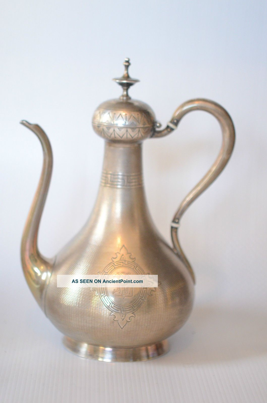 French Sterling Silver (950) Islamic Style Coffee Pot Cardeilhac 1920 Nr France photo
