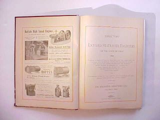 1903 Directory Of Ohio Steam Engineers Profuse Photos Advertising 352 Pages Vg+ photo
