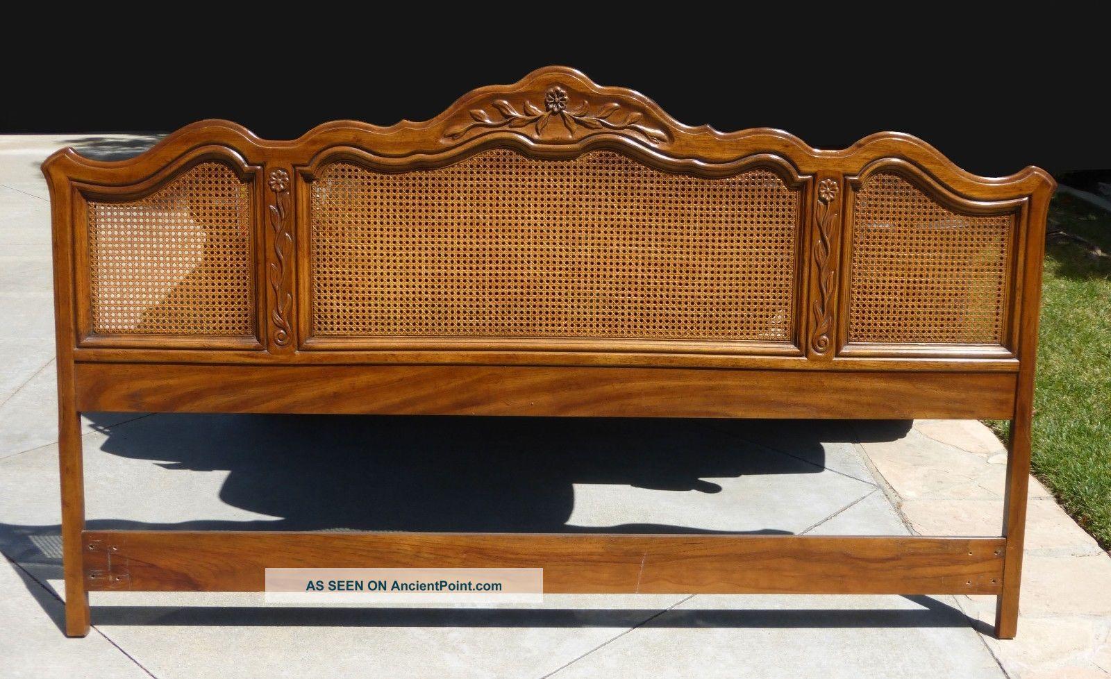 Drexel Bedroom Set.  Vintage Drexel Heritage French Provincial Cane King Headboard 46x79