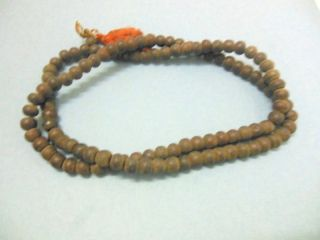 Antique Hindu Brown Beads Religious Garland Ritual Collectibles India photo