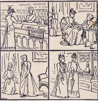 1800 ' S Apothecary Jar Pharmacy Dunlap Corn Cure Comic Strip Story Ad Trade Card photo
