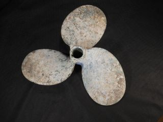 Vtg Boat Propeller Maritime Nautical Brass Metal Beach Garden Decor Steampunk photo