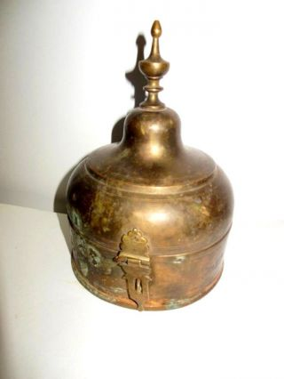 Vintage Mosque Shaped Islamic Urdu Calligraphic Antique Religious Metal Box photo