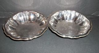 Two Small Oneida Silver Plated Bowls Has Cracks 5 1/2
