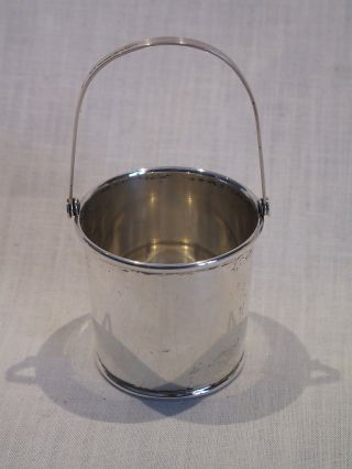 Vintage Webster Sterling Silver Miniature Pail 1 - 7/8