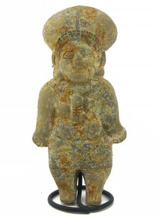 Across The Puddle Pre - Columbian Tumaco Female Figure Reproduction photo
