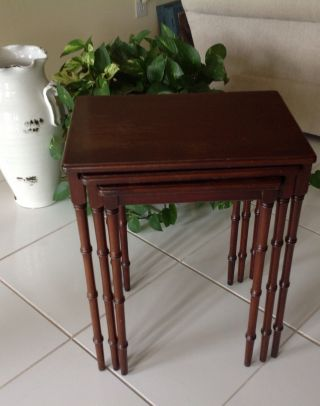Mahogany Imperial Grand Rapids Nesting Side Tables (set Of 3) photo