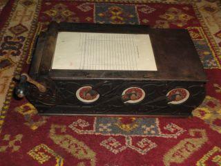 Rare Early Antique Cast Iron Hamilton Autographic Register W/ Receipt Rolls photo