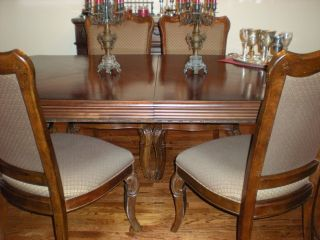 Gothic Bernhard Dining Room Set With Marble Tops On Server & Sideboard photo