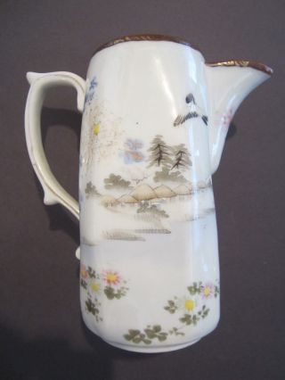Vintage Chinese Large White Porcelain Pitcher Or Teapot photo