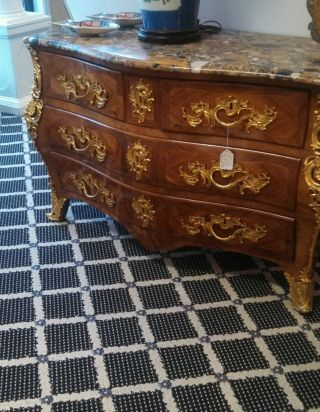 19th Century French Commode/chest With Exquisite Dor ' E Bronze Mounts.  Fine. photo