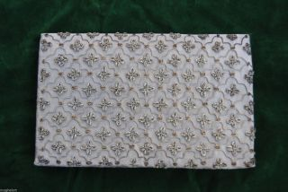 Antique Ottoman Turkish Bag,  Wallet,  Purse,  Clutch Silver Embroidery Islamic photo