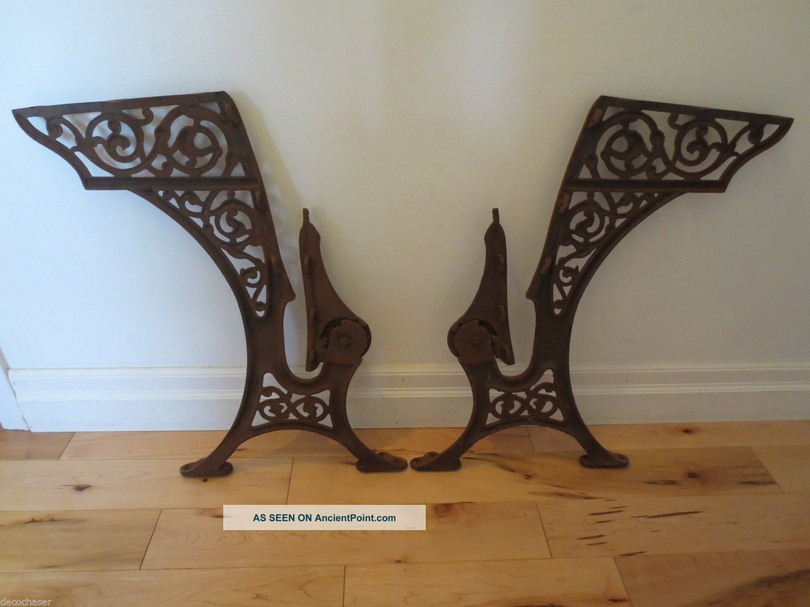 Terrific Antique School Desk Cast Iron Legs Folding Seat Marked 4 Download Free Architecture Designs Xoliawazosbritishbridgeorg
