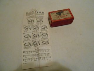 Old Waterbury Sweet Potato Ocarina Box W/instructions photo