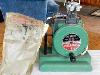 Vintage Monarch 20 Dial - A - Pricer Marking System Machine W/cover 1940 ' S photo