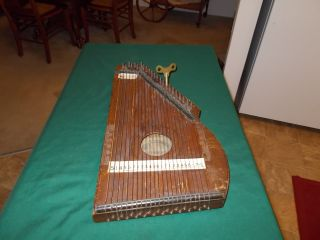 Antique C.  F.  Zimmerman Simplified Notation Of Music Auto Harp P/d May 9 1882 photo