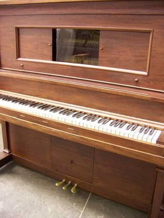 Antique 1908 Baldwin Mahogany Grand Upright Piano photo