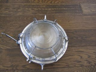 Vintage Nautical/ Industrial Aluminum Circular Light - Rewired & Restored photo