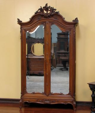 11671 - 1 : Antique French Louis Xv Walnut Armoire photo