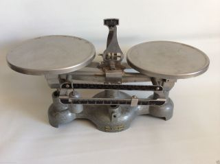 Vintage Welch Scientific Co Balance Double Beam Cast Iron Scale. photo