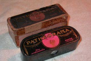 Antique Patheorama C.  1910 Paris Souvenir Viewer In Box photo