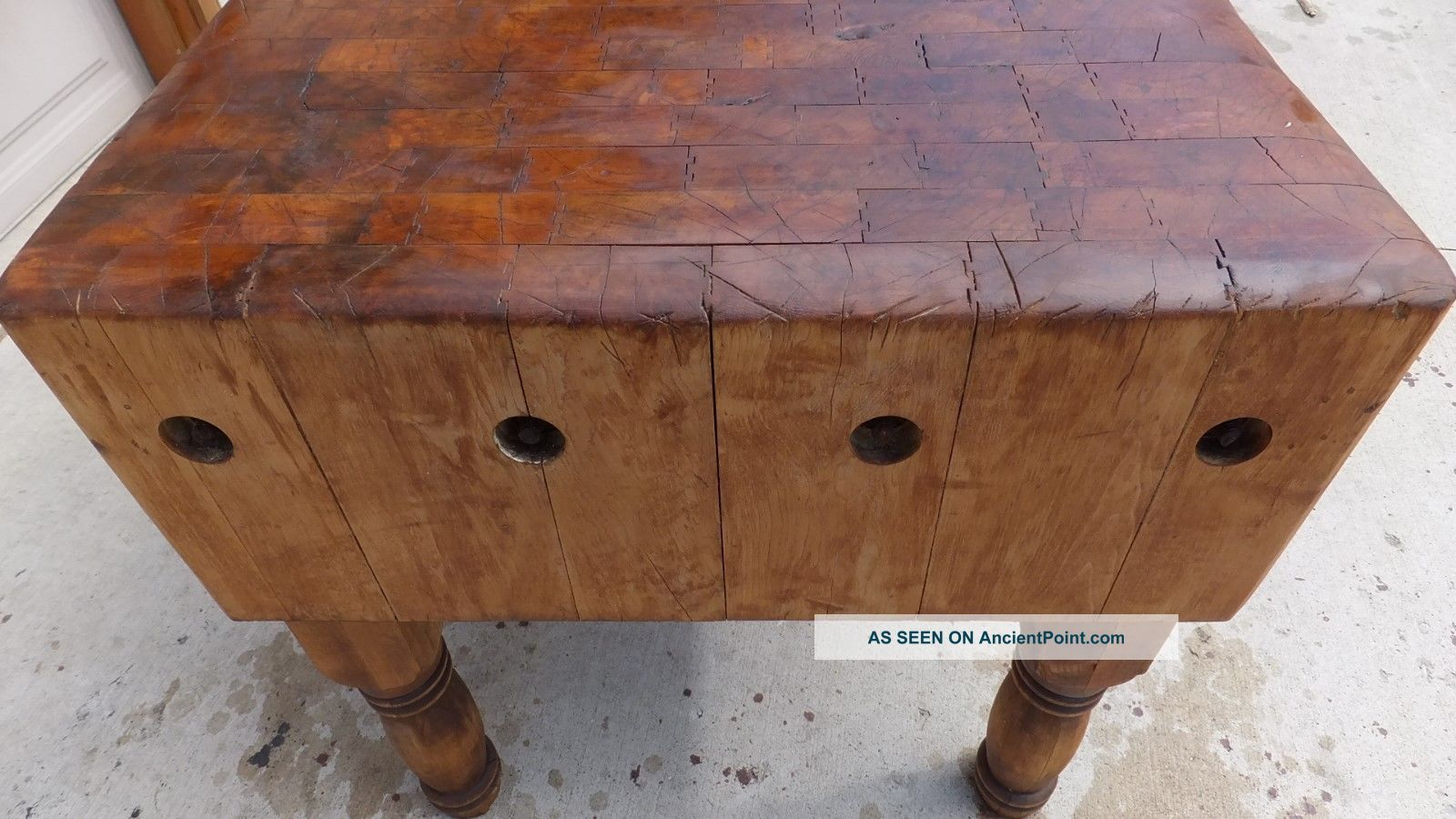 Butcher Block Table And Chair Set Images