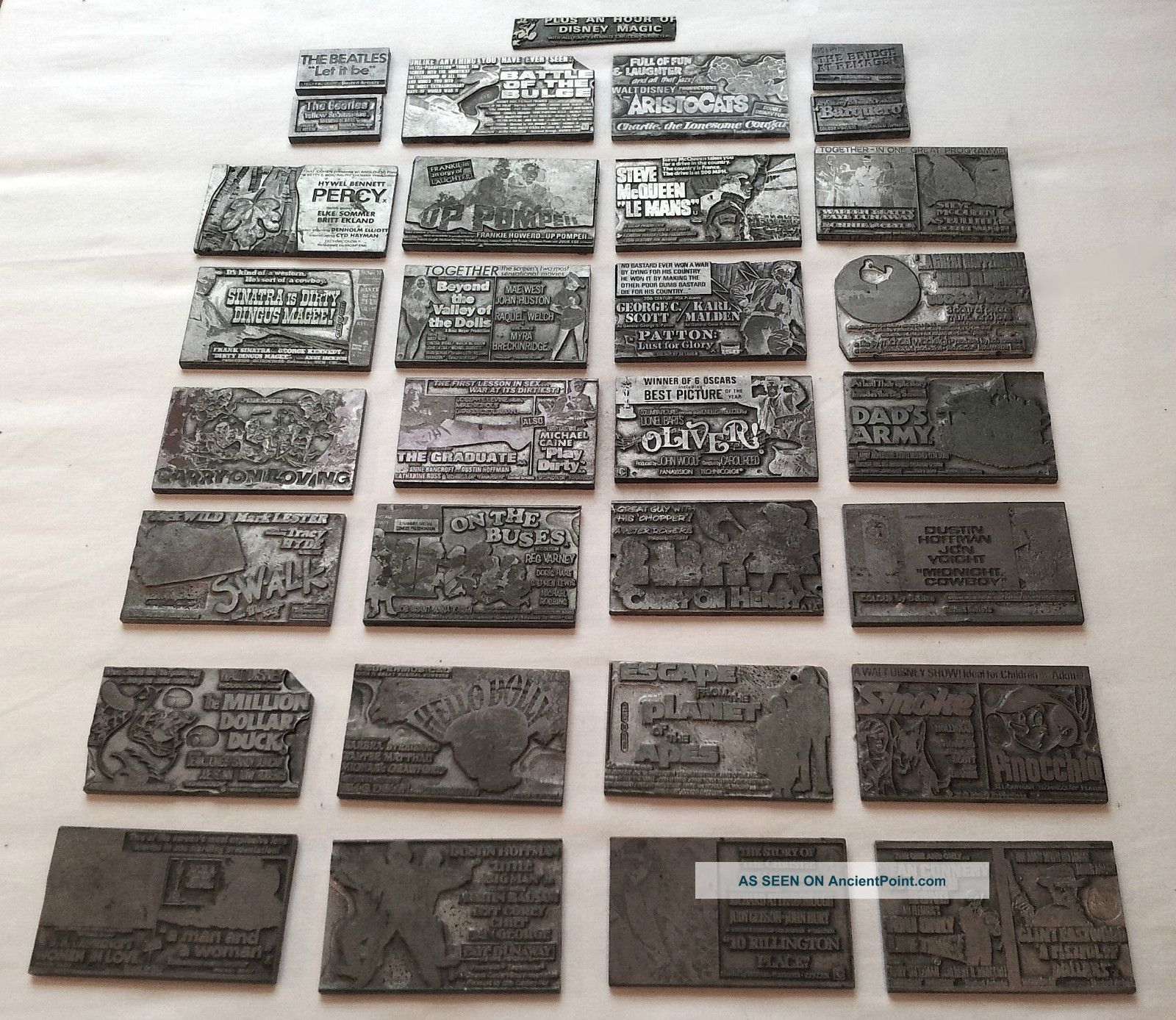 Old Metal Newspaper Printing Plates For Famous Movie Adverts • Very Collectable Uncategorized photo