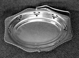 Vintage Cheltenham And Co.  Ltd,  Silver Basket W/handle Made In England 01600 photo