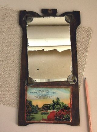 Antique Advertising Mirror Plaque Southern Cotton Gin Farmer ' S Co - Op Association photo
