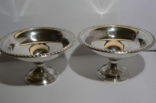Vintage American Sterling Silver.  2 - Bowls.  Preismer.  Weighted.  230 Gr. photo