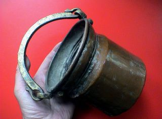 Antique Islamic/persian Era Cooking Pot With Snake Head Handle,  18th Century Ad. photo
