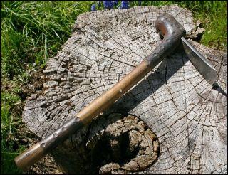 Vintage African Bushman Adze W/ Steel Blade photo