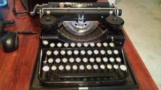 Rare Vintage Antique 1926 Underwood Standard Portable Black Typewriter Sn 4b5563 photo