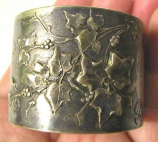 Art Nuveau Solid Silver Silver 800 German Napkin Ring L photo