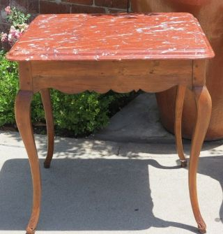 Antique French Provincial Occasional Table W Rouge Marble Top Nr photo