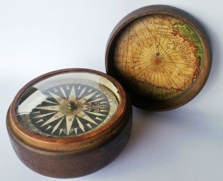 1800 Marittime Compass Signed