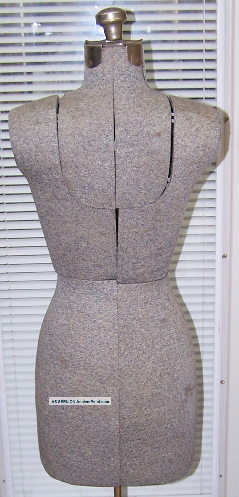 Adjustable Vintage Dress Form W/ Metal Base - Retro Industrial Look Other photo