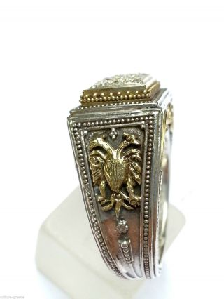 Byzantine - Medieval Ring Solid Gold K18 & Silver photo