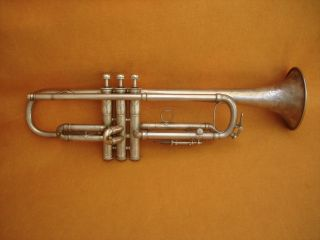 Harry B.  Jay Columbia Silver Bb Trumpet In 9213 - photo
