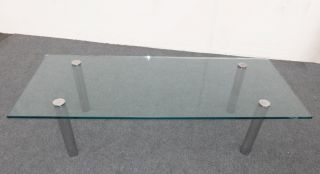 Vintage Contemporary Style Chrome Glass Coffee Table photo