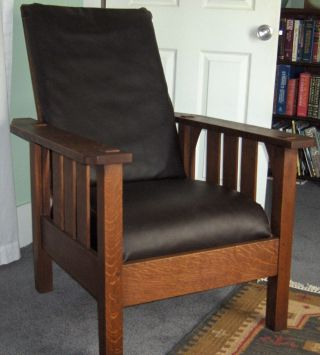 Mission Morris Chair Flat Arm Early Gus Style photo