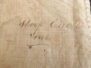 1816 Sloop Eagle Ship Log W/ Passenger List.  Isaac White Master.  198 Years Old photo