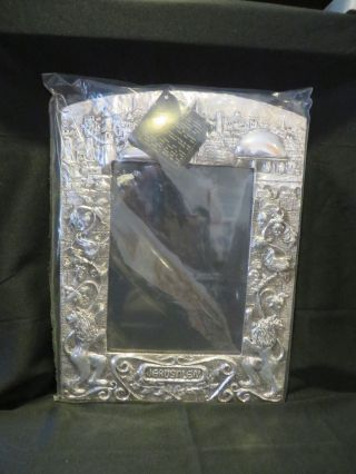 Lisham Art Co 925 Sterling Silver Jerusalem Motif Picture Frame 8 1/2