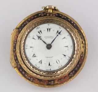 Benjamin Barber Quadruple Case Verge Fuse Ottoman Market 1790 Horn Pocket Watch photo