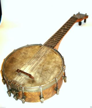Antique Slingerland Maybell Banjo Ukulele With Birdseye Maple Chicago C.  1920 ' S photo